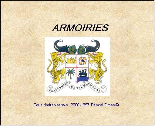Les armoiries du Benin-----> Cliquez pour acceder au site officiel du Benin